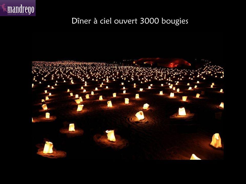 Dîner à ciel ouvert 3000 bougies