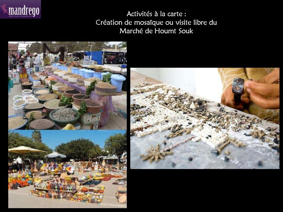 Activités à la carte : Création de mosaïque ou visite libre du Marché de Houmt Souk