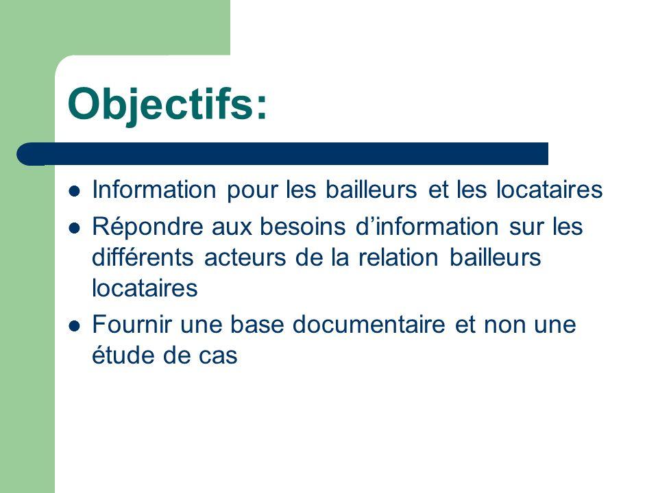 Objectifs: Information pour les bailleurs et les locataires