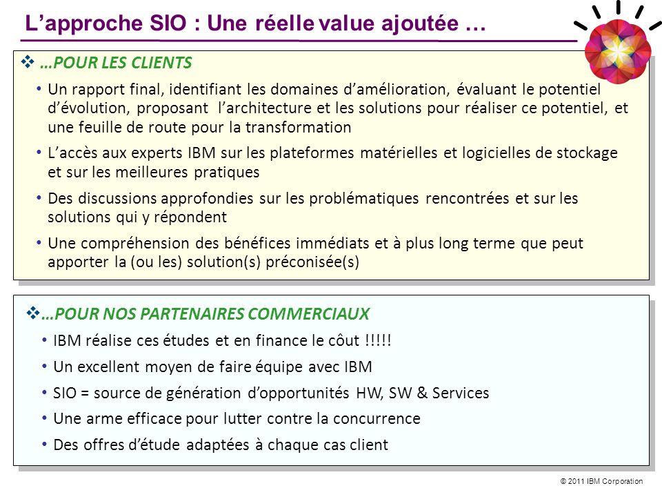 L'approche SIO : Une réelle value ajoutée …