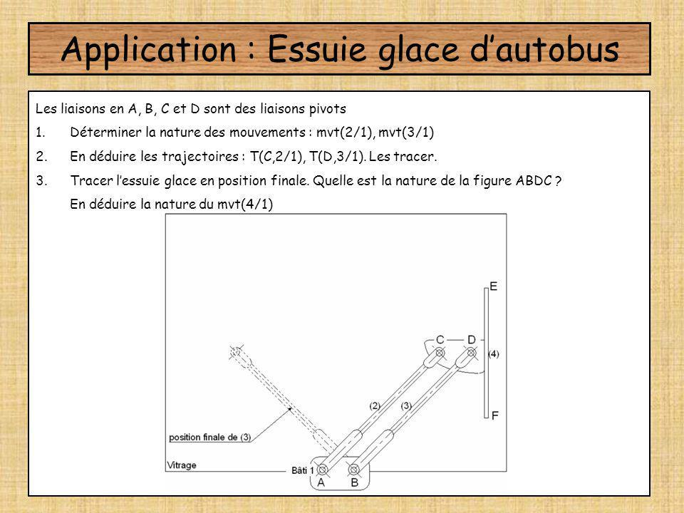 Application : Essuie glace d'autobus