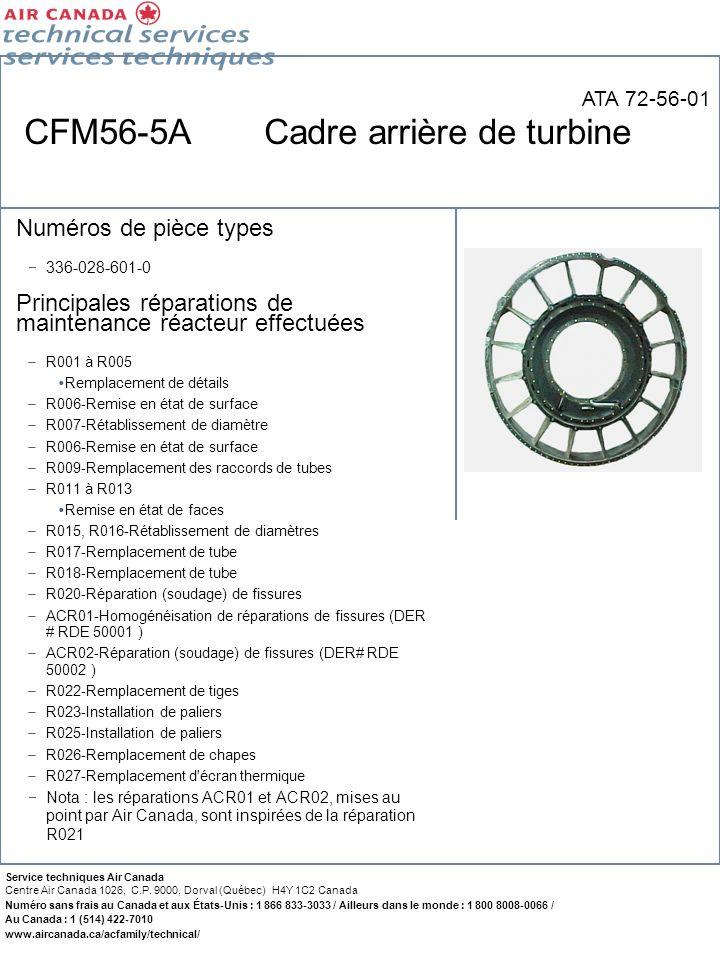 CFM56-5A Cadre arrière de turbine