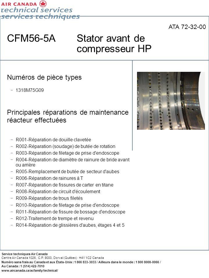CFM56-5A Stator avant de compresseur HP
