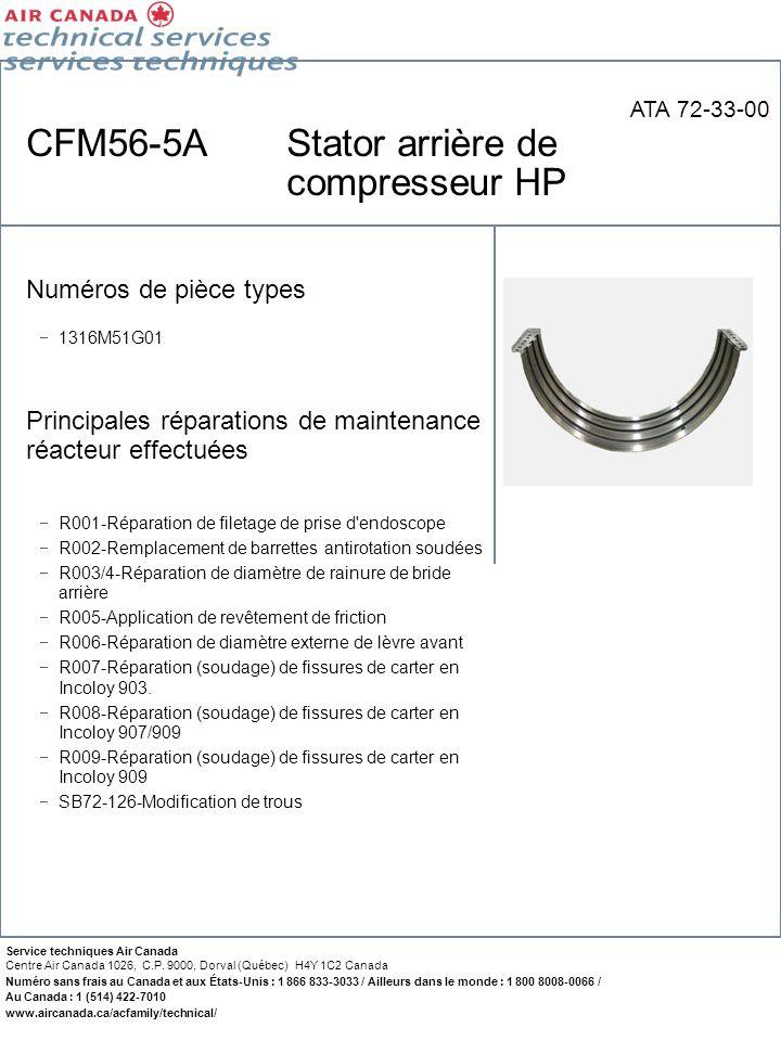 CFM56-5A Stator arrière de compresseur HP
