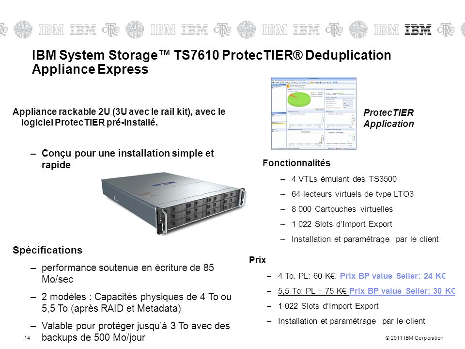IBM System Storage™ TS7610 ProtecTIER® Deduplication Appliance Express
