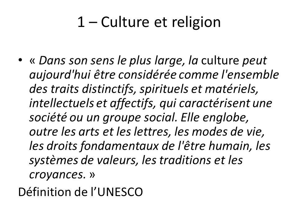 1 – Culture et religion