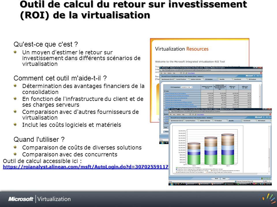 Outil de calcul du retour sur investissement (ROI) de la virtualisation