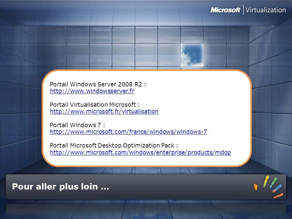 Pour aller plus loin … Portail Windows Server 2008 R2 :