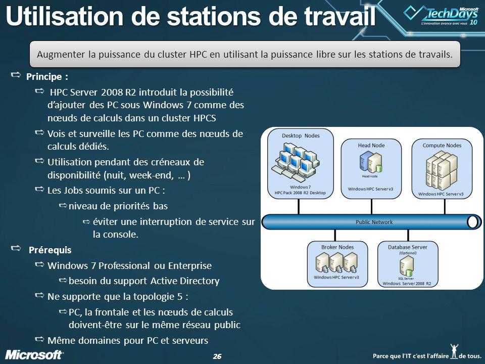 Utilisation de stations de travail