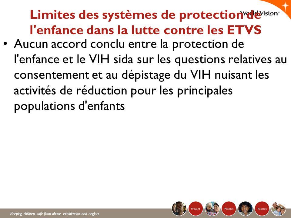 Limites des systèmes de protection de l enfance dans la lutte contre les ETVS