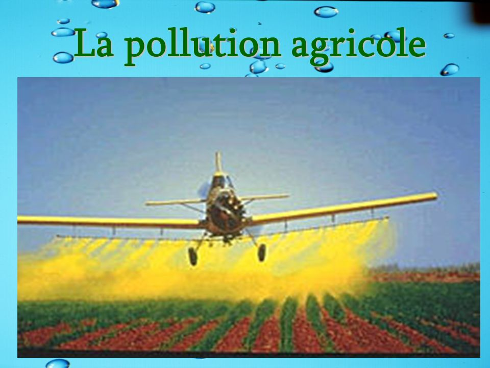 La pollution agricole