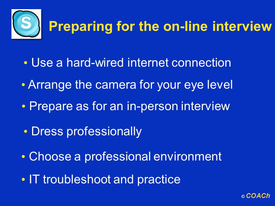 Preparing for the on-line interview