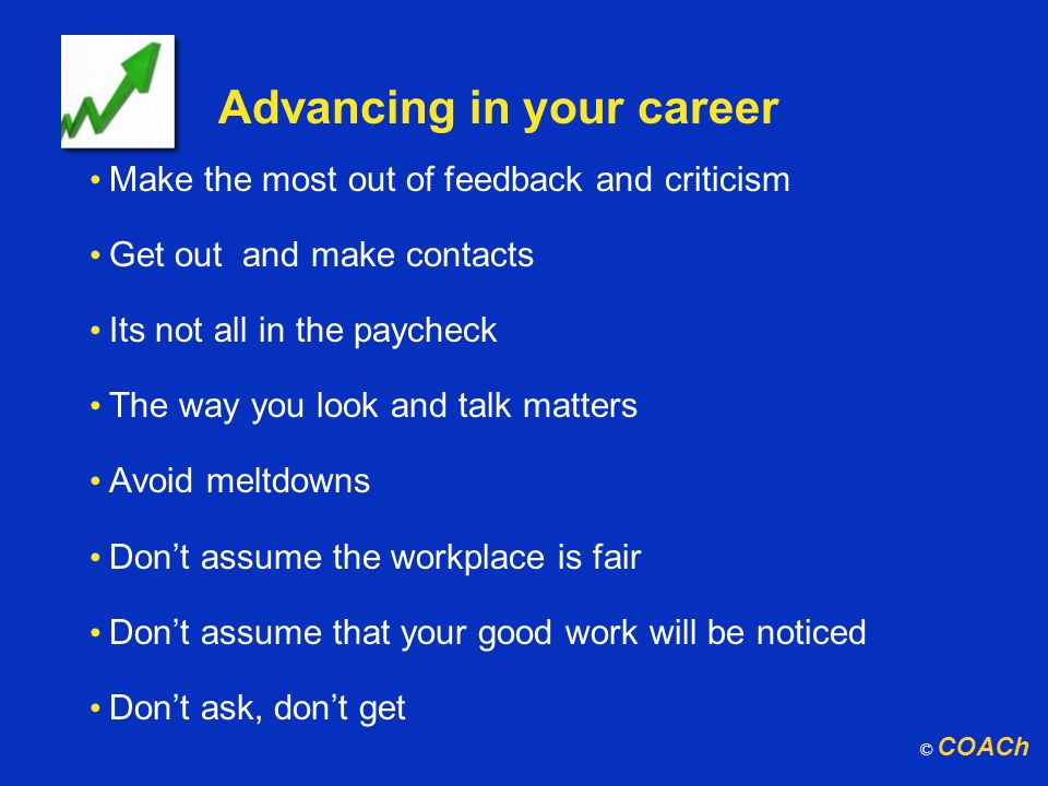 Advancing in your career