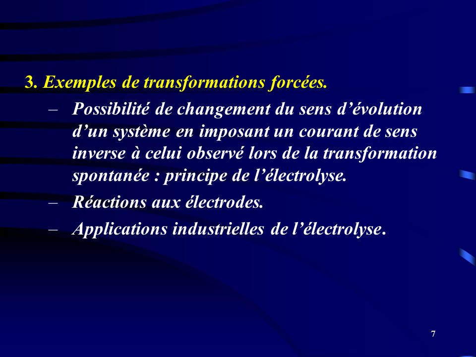 3. Exemples de transformations forcées.