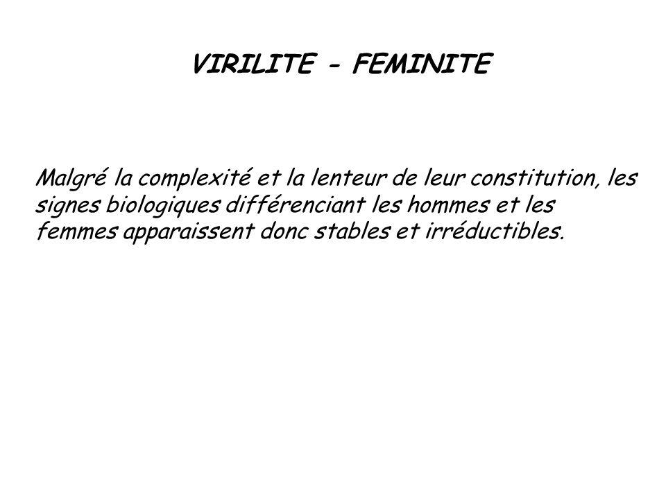 VIRILITE - FEMINITE