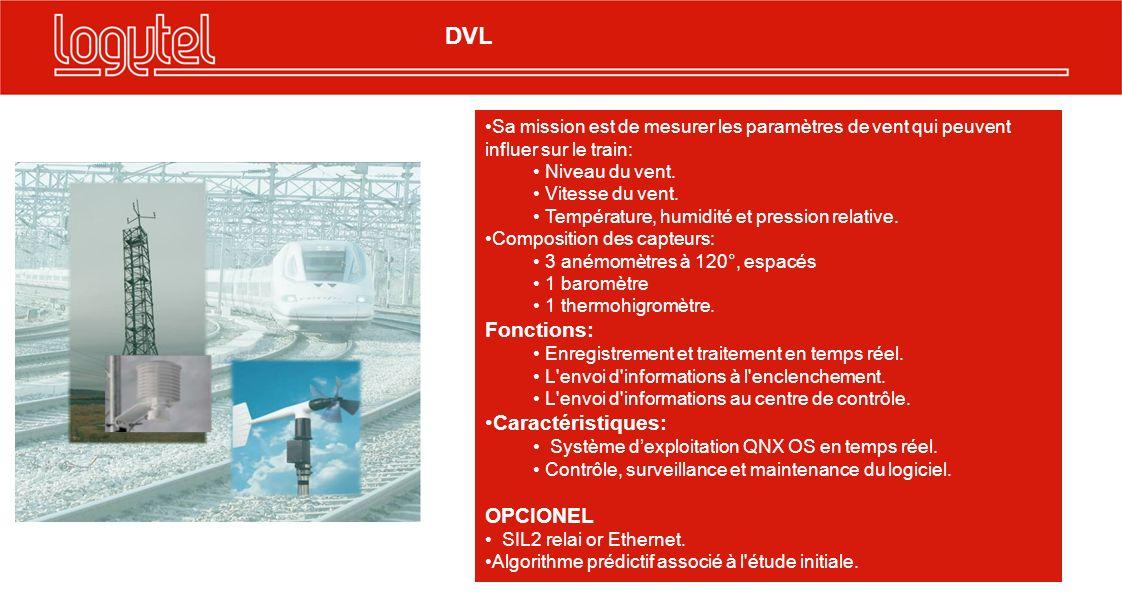 DVL Fonctions: Caractéristiques: OPCIONEL