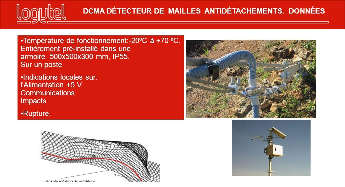 DCMA DÉTECTEUR DE MAILLES ANTIDÉTACHEMENTS. DONNÉES