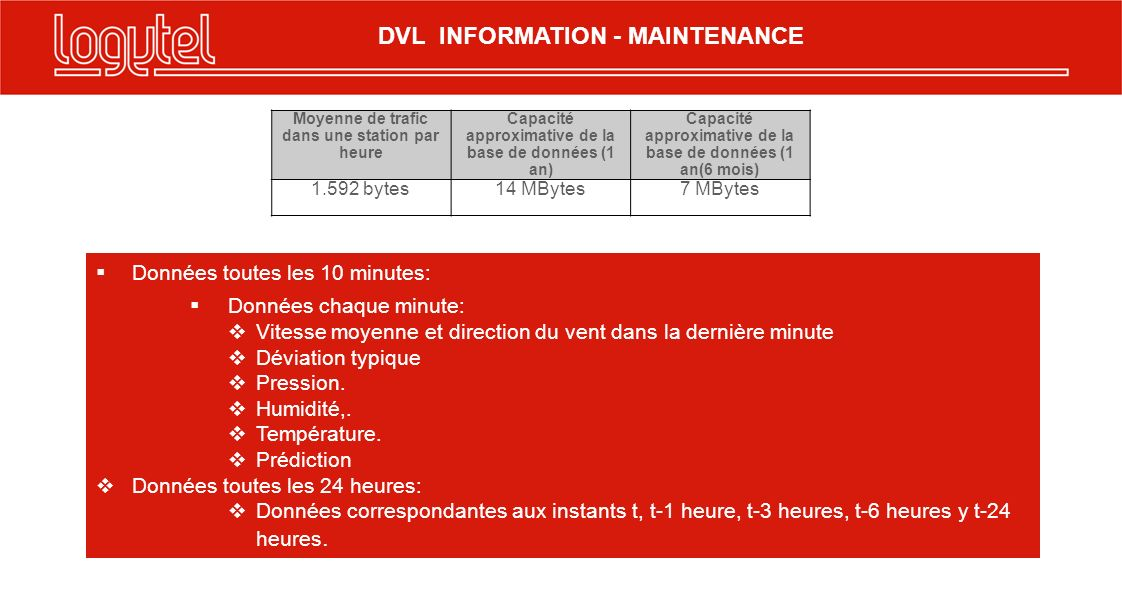 DVL INFORMATION - MAINTENANCE