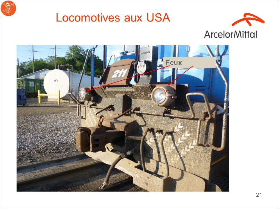 Locomotives aux USA Feux