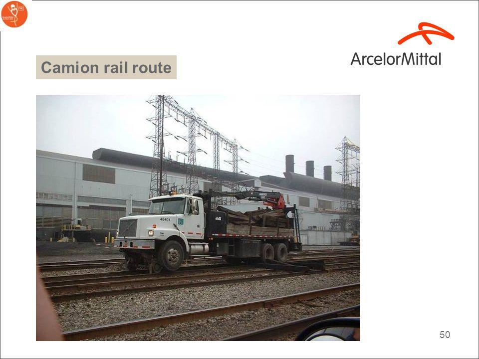 Camion rail route