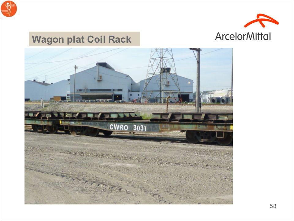 Wagon plat Coil Rack