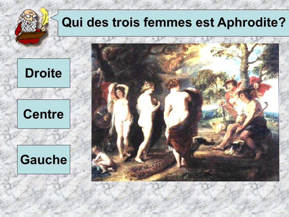 Qui des trois femmes est Aphrodite