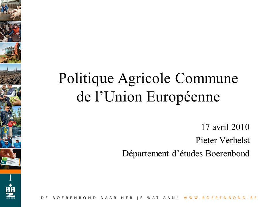Politique Agricole Commune de l'Union Européenne
