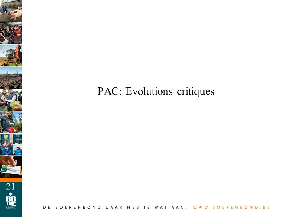 PAC: Evolutions critiques