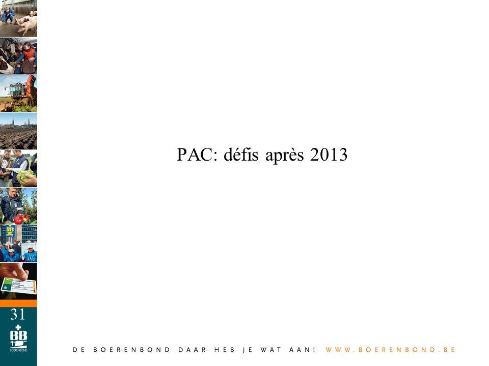 PAC: défis après 2013