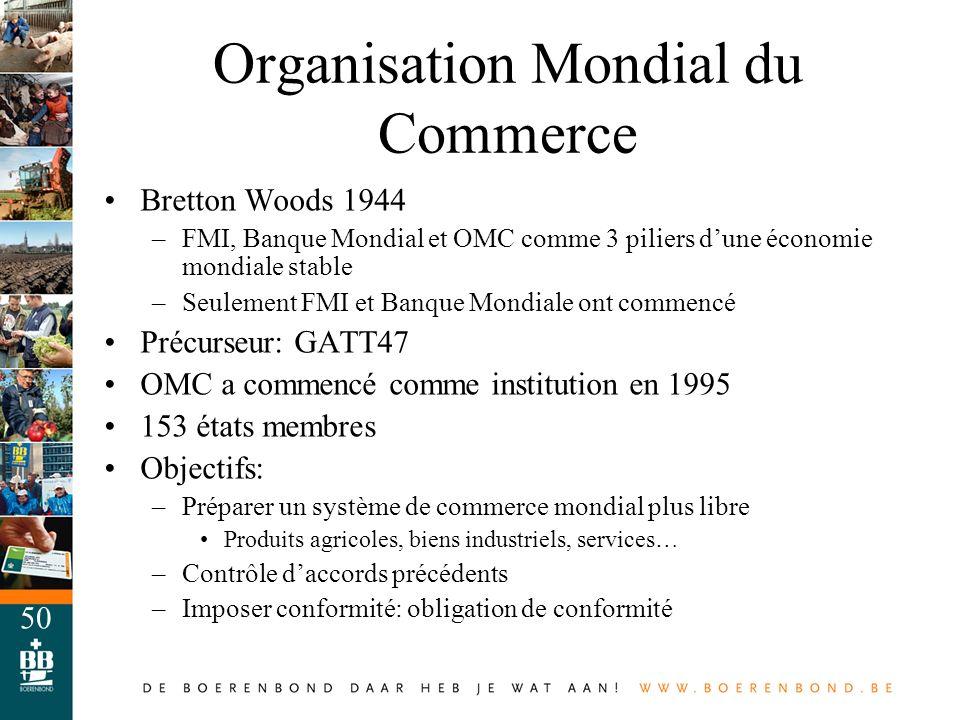 Organisation Mondial du Commerce