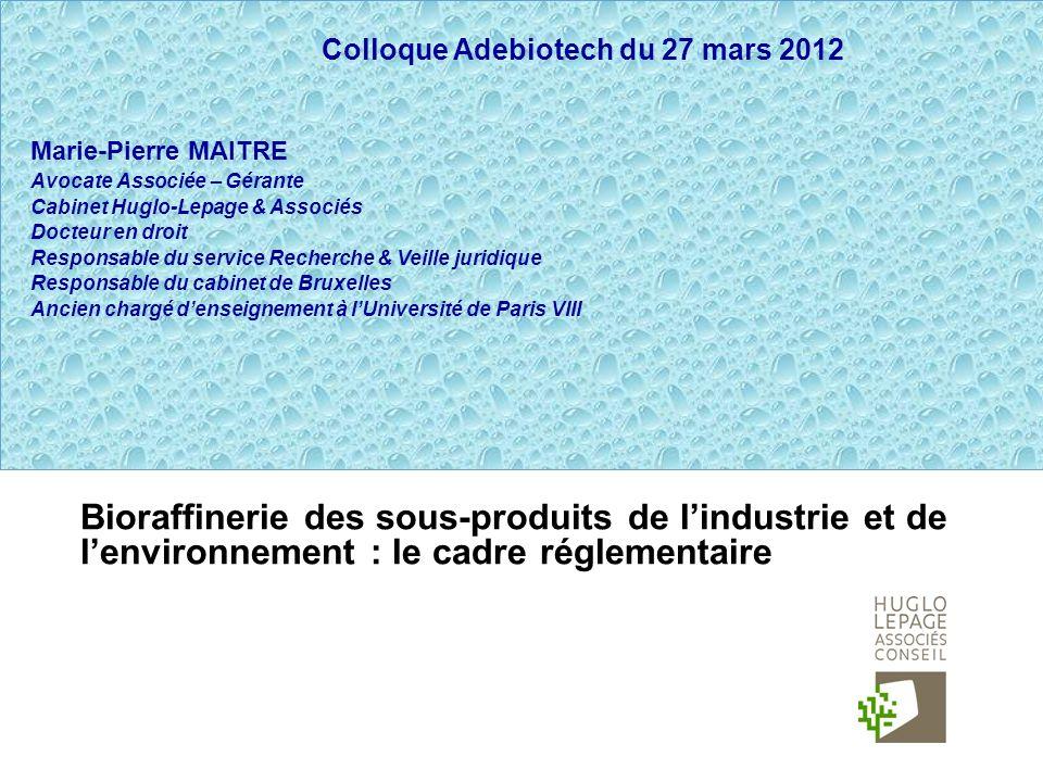 Colloque Adebiotech du 27 mars 2012