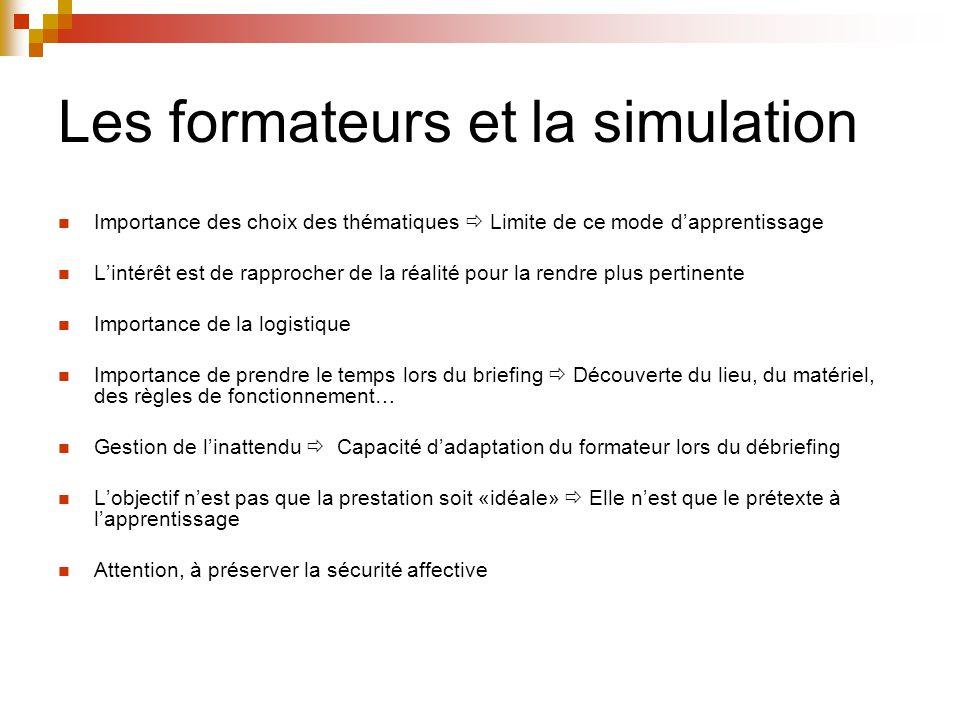 Les formateurs et la simulation
