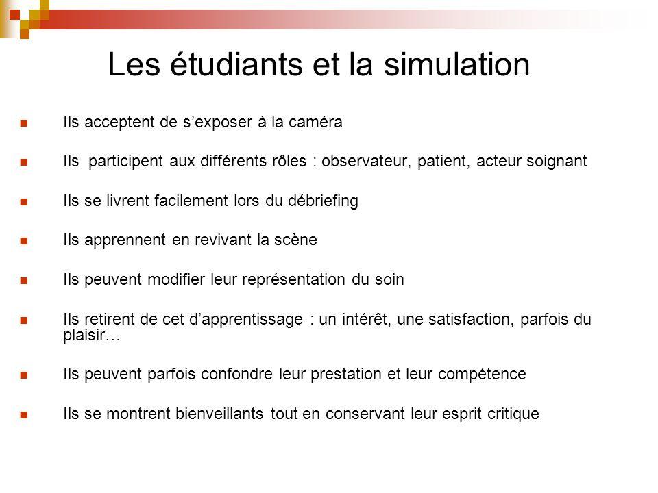 Les étudiants et la simulation