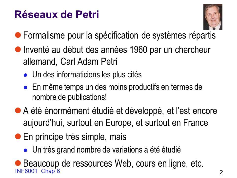 Réseaux de Petri Formalisme pour la spécification de systèmes répartis