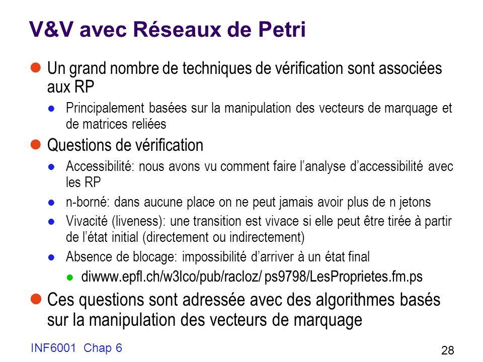 V&V avec Réseaux de Petri