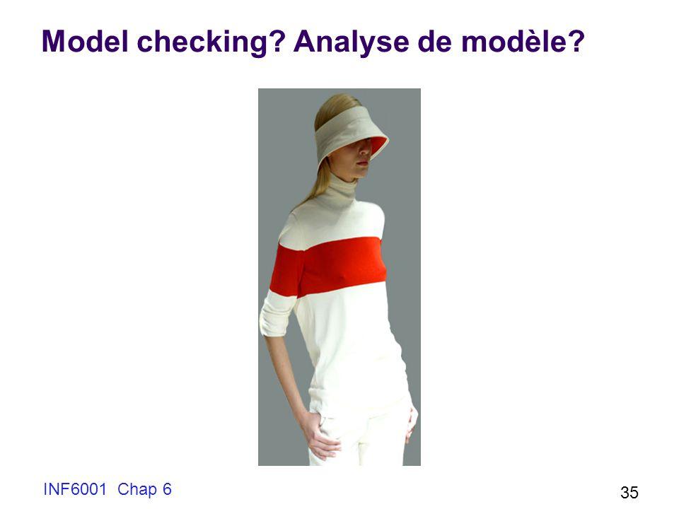 Model checking Analyse de modèle