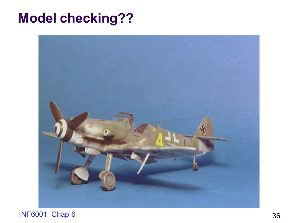Model checking INF6001 Chap 6