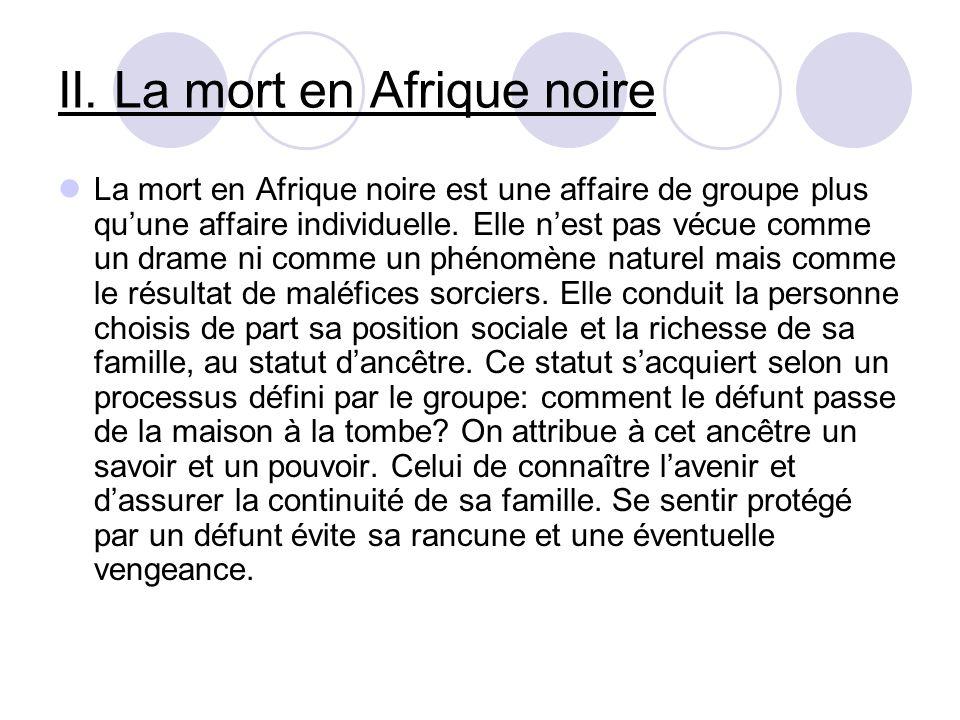II. La mort en Afrique noire