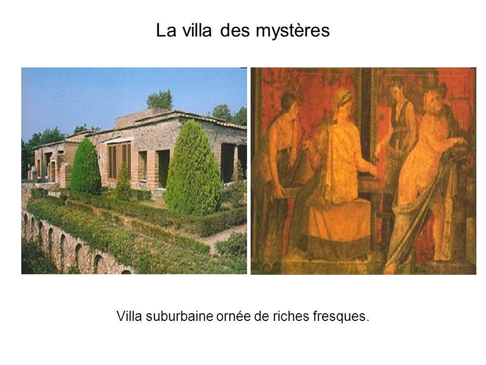 Villa suburbaine ornée de riches fresques.