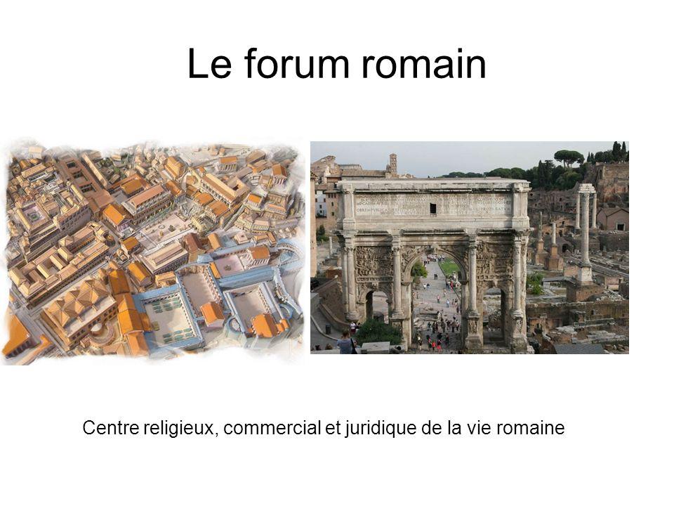 Centre religieux, commercial et juridique de la vie romaine