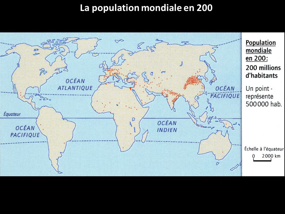 La population mondiale en 200