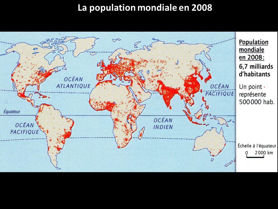 La population mondiale en 2008