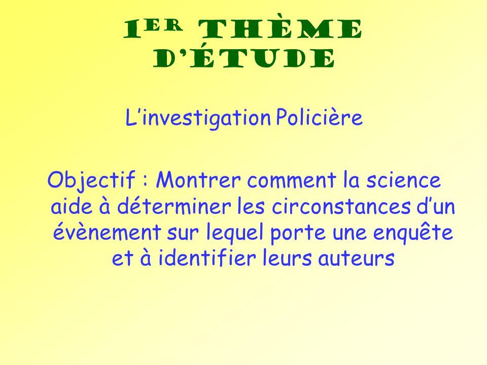 L'investigation Policière