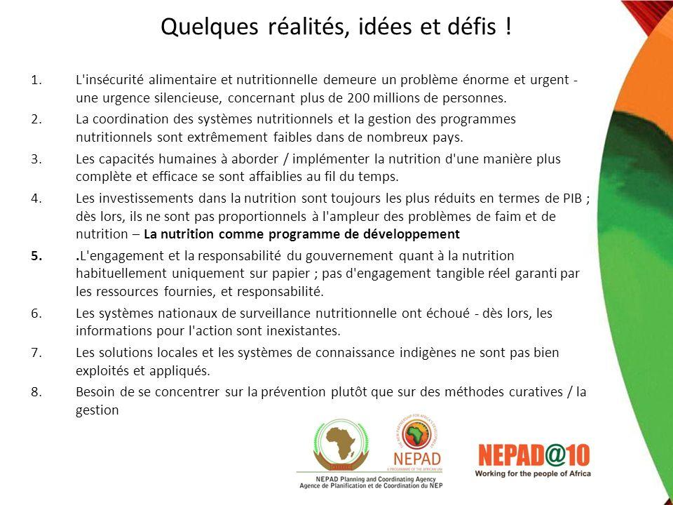 Quelques réalités, idées et défis !