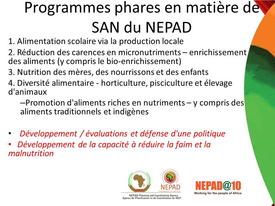 Programmes phares en matière de SAN du NEPAD