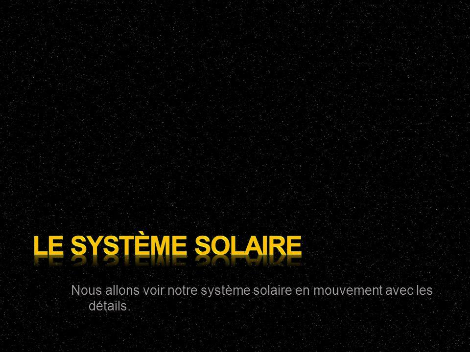 Le système solaire Nous allons voir notre système solaire en mouvement avec les détails.