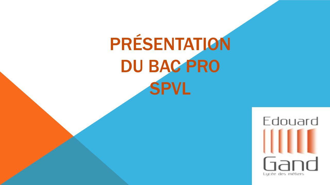 Présentation du bac pro SPVL