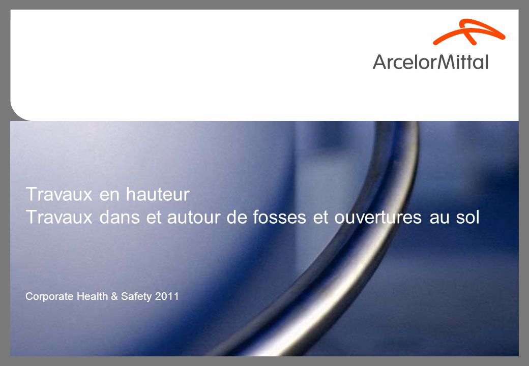 Corporate Health & Safety 2011