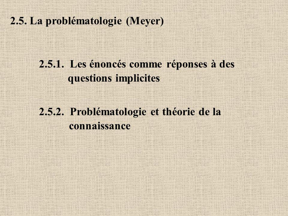2.5. La problématologie (Meyer)