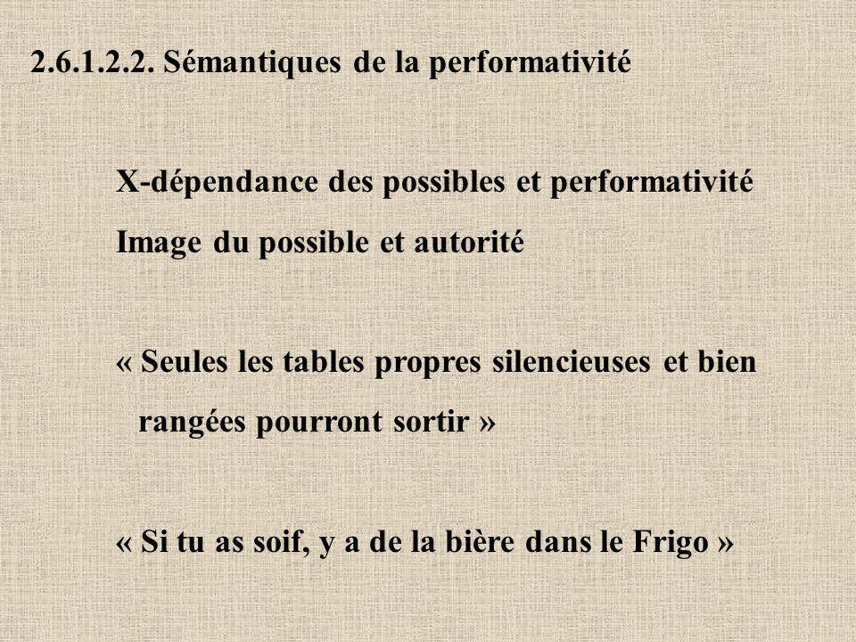 2.6.1.2.2. Sémantiques de la performativité